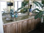 wet bar in living area