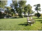 A huge lawn along the river. A great place to soak up some sun or watch the sunset.