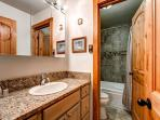 Double Eagle Hallway Bath with Tub Breckenridge Ski-in Lodging