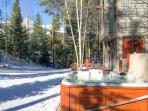 Boulder Ridge Lodge Private Hot Tub Deck with Views Breckenridge