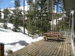Back Deck with a View of Peak 8 - Breckenridge Lodging