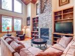Canny Lodge Duplex in Reserves Living Room Frisco Lodging