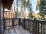 Lonestar Lodge Deck off Master Breckenridge Luxury Home Rentals
