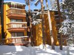Peak 8 Village Building E in Winter Breckenridge Lodging