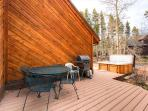 Pine Station House Deck off Hot Tub Breckenridge Luxury Home Ren