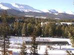 Powderhorn View of Quicksilver Chair from Balcony Breckenridge L