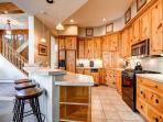 White Wolf Townhome Kitchen Breckenridge Luxury Lodging