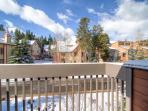 Winterpoint Townhouse View from Master Balcony Breckenridge Lodg