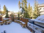 White Wolf Townhome Deck off Living Room Breckenridge Luxury Lod