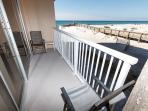 Private balcony with a beautiful beachside view (from 2nd floor)