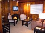 Fairy Circle Cottage, Cozy Living Room, Gas Fireplace