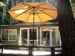 Falling Leaf Vacation Rental, Sunny Front Deck