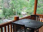 Private Balcony off Deluxe Master Overlooking the River
