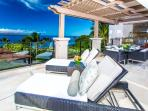 D302 Bella Luna Private Panoramic Ocean Front View Terrace with Viking Grill, Alfresco Dining, and Lounging. True...