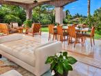 G102 Floral Gardens Covered Patio and Sitting Area Opens to the Garden and Ocean Views