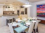 J305 Aqua Lani Ocean View 3 Bedroom 3 Bath Ultra-Lux Residential Vacation Villa - Gourmet Kitchen and Dining Area with...