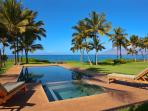 Wailea Sunset Estate - Oceanside Pool and Ocean Front Panoramic View From Wailea Sunset Estate