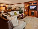 The Beautiful Great Room of A201 Royal Ilima - Looking Towards Wailea Beach. Genuine Italian Plaster Walls, Live...