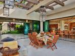Outdoor Dining and Lounging at Wailea Sunset Estate
