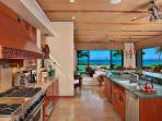 Wailea Sunset Estate - Fully Equipped Kitchen with Large Gas Range