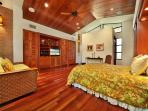 Wailea Sunset Estate - Fourth Bedroom in Separate Building with En-Suite Bath, Small Kitchenette, Queen Bed and Queen...