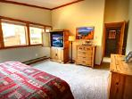 Master bedroom with private flat screen TV