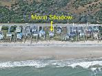 Aerial photo showing location of Moon Shadow