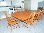 Dining table easily seats at least 10