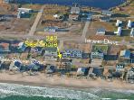 Aerial view showing duplex