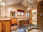 Huron Heights Retreat Master Bath Breckenridge Luxury Home Renta