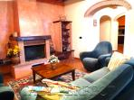 Casa San Vito Living Room with fireplace