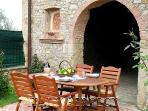 Table can be brought out from the loggia