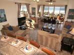 Lower level living room, Beachfront Only Vacation Rentals