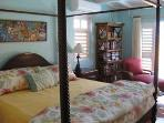Master bedroom suite with king bed