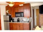 Kitchen with Cherry Cabinets & Granite Countertop