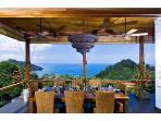 Dining Area with Ocean and Jungle Views - A Private Chef is Available
