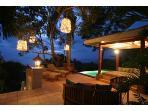 Terrace-Pool-Pavillion at Night