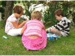 Les Limornieres provides toys & games to borrow for indoors & out for visiting children & babies