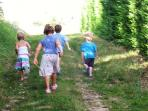 Traffic free routes for walking, cycling, horse-riding and adventuring surround Les Limornieres