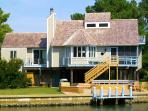 Chincoteague's Spinnaker Vacation Rental  Home from the   Water across from Assateague Island