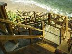 our steps to the beach