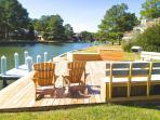 Outdoor living deck - The Ponyisland House overlooking Assateague Island VA home of the Wild Ponies