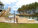 Chincoteague's best outdoor living overlooking Assateague island and views of Oyster Bay's kayaking