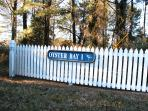 Entrance to private  Oyser Bay One community