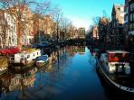 beautiful canals in front of your doors