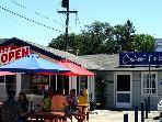 In the neighborhood -- Sanducci's for breakfast or lunch.