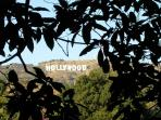The Hollywood Sign from the Upper Patio