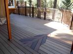 Large deck outside of the game room.