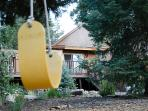 A tree swing for the little (and big) kids.