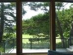 View of golf course from living room.